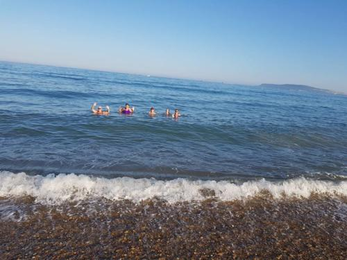 Wednesday Club Run July cooling off in the sea